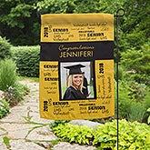 Personalized Graduation Photo Garden Flag - School Spirit - 12960