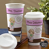 Personalized Teacher Travel Tumblers - Precious Moments - 12967