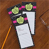 Personalized Teacher's To Do List Notepad - Green Apple - 12977
