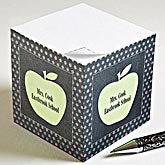 Personalized Teacher Note Pads - Teacher's Apple - 12979