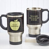 Personalized Teachers Travel Mugs - Green Apple - 12980
