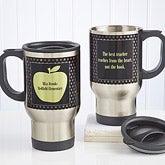 Personalized Teachers Travel Mugs - Green Apple - 12980