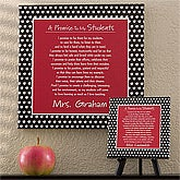 Personalized Teacher Canvas Art - A Teacher's Promise - 12983