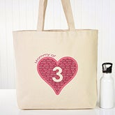 Personalized Canvas Tote Bags for Mom - Mommy Of - 12986