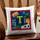 Personalized Kids Throw Pillows - Sports - 12997