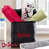 Personalized Baby Bottle Bag with Dr Seuss Cat In The Hat Burp Cloth Set - 13001