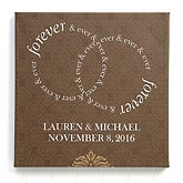 Personalized Wedding Canvas Prints - Forever & Ever - 13012
