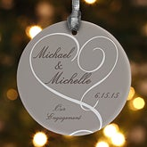 Personalized Engagement Christmas Ornaments - 13015