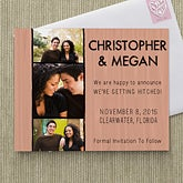 Personalized Wedding Save The Date Cards & Magnets - Simply In Love - 13017