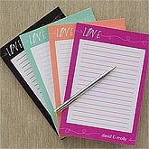 Personalized Love Note Pads - 13019