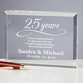 Personalized Anniversary Keepsake Gift - Happy Anniversary - 13025