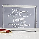 Happy Anniversary Personalized Keepsake