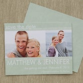 Personalized Photo Save The Date Wedding Cards & Magnets - Simply Timeless - 13027