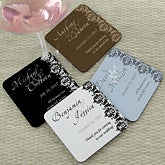 Personalized Wedding Favor Coasters - Wedding Couple - 13038