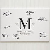 Personalized Wedding Guestbook Canvas Print - 13042
