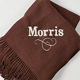 Personalized Throw Blankets - Embroidered Name - 13046