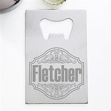 Personalized Credit Card Bottle Opener - My Brew - 13059