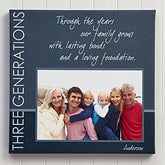 Personalized Photo Canvas Art - Generations - 13064