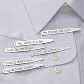 Personalized Silver Collar Stays Set - 13065