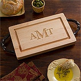 "Personalized Cutting Boards - 13"" Maple with Monogram - 13071D"
