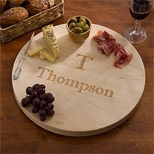 Personalized Lazy Susan Serving Tray - Maple - 13073D
