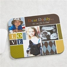 personalized photo mouse pads for dad 13077