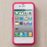 Personalized iPhone 4 Pink Cell Phone Case - 13097