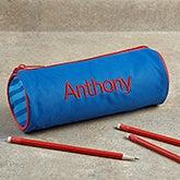 Personalized Kids Pencil Case - Blue - 13101