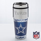 Personalized Dallas Cowboys NFL Football Travel Mug - 13122