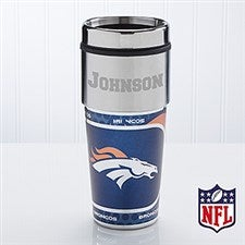 Personalized Denver Broncos NFL Football Travel Mugs - 13123
