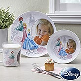 Personalized Disney Princesses Plates - Cinderella, Ariel & Sleeping Beauty - 13131D
