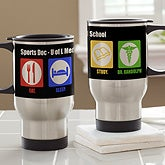 Personalized Medical Student Travel Mugs - Eat, Sleep, Study - 13142