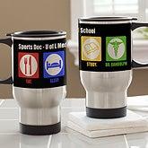 Personalized Medical Student Travel Mugs - Eat, Sleep, Study - 13142