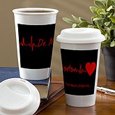 Personalized Travel Tumblers for Doctors - Heart of Caring - 13146