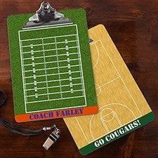 Personalized Sports Coach Dry Erase Clipboards - 13161