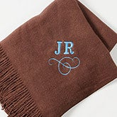 Personalized Throw Blankets - Lap Of Luxury Embroidered Monogram - 13163