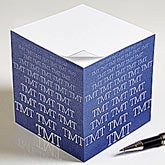 Personalized Notepad Paper Cube - Optic Name - 13170