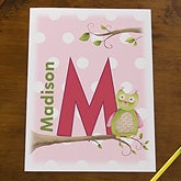Personalized Kids Folders for Girls - Owl About You - 13176