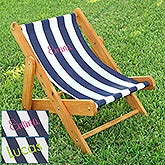Personalized Striped Outdoor Sling Chair - 13185D