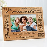 Personalized Friends Custom Wood Picture Frame - 1322