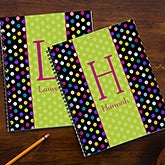 Personalized Kids Notebooks for Girls - Polka Dots - 13222