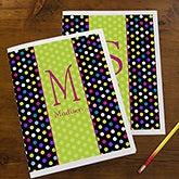 Personalized Girls Folders - Polka Dots - 13223