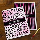 Personalized School Folders - Animal Print - 13227