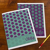 Personalized School Folders - Trendy Polka Dots - 13248