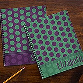 Personalized School Notebooks - Trendy Polka Dots - 13249