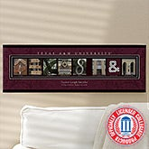 Personalized Texas A&M University Campus Photo Letter Artwork - 13250