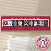 Ohio State Personalized College Campus Photo Letter Art - 13252