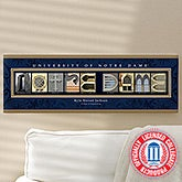 Notre Dame Personalized Campus Photo Letter Art - 13253