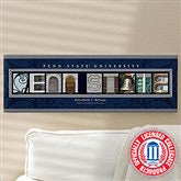 Penn State Personalized College Campus Photo Letter Art - 13254
