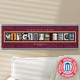 Campus Photo Personalized Letter Artwork - Virginia Tech - 13255